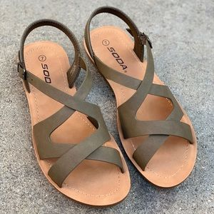 SODA Women Cross Strap Sandal Flip Flop